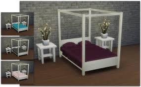 mod the sims modern four poster double bed