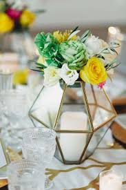 wedding decor modern centerpieces u0026 geometric patterns
