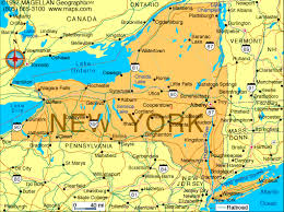 map for new york map of new york state major tourist attractions maps