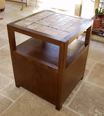 ana white rhyan end table diy projects ana white rhyan end table or nightstand modified with a tile top