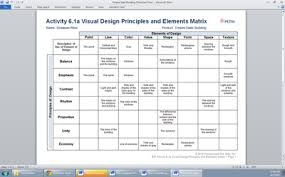 design elements matrix activity 6 1 visual design principles and elements identification