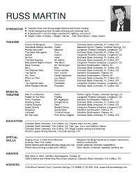 Child Actor Resume Template Children Acting Resume Template Templates Update Actor Builder