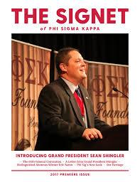 Phi Sigma Kappa Flag The Signet Fall 2017 By Phi Sigma Kappa Issuu