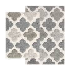 Gray Moroccan Rug Bath Mats And Rugs