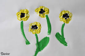 handprint flowers craft for kids darice