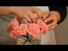 how to make a carnation vase arrangement flowers u0026 centerpieces