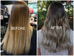should wash hair before bayalage the diy ombre gone wrong before and after balayage color