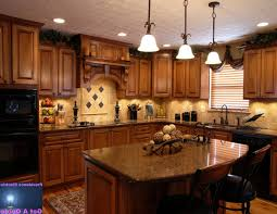 Kitchen Granite Island Kitchen Style Best Tuscan Kitchen Ideas Wooden Refrigerator Door