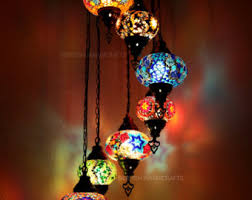 Mosaic Chandelier Turkish Handmade Mosaic Lamps Lighting With By Dervishhandicrafts On Etsy