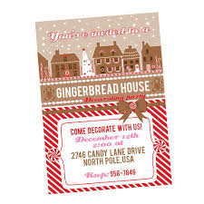 gingerbread house decorating party printable invitation u2013 wants