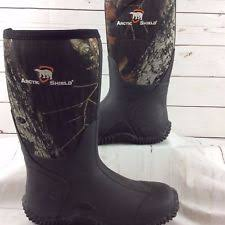 s insulated boots size 9 arctic shield mens rubber neoprene waterproof insulated boots camo