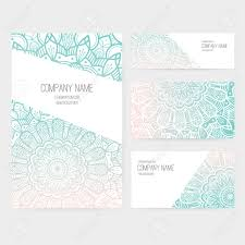 Invitation Cards Templates Set Of Business Card And Invitation Card Templates With Lace
