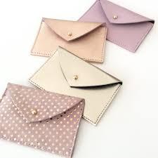 Card Holder Business Leather Card Holder Leather Card Case Envelope Wallet Leather