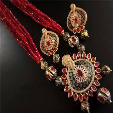 crystal design necklace images Necklace set maroon mala set women jewellery jpg