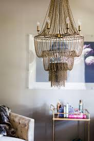 Metal Chain Chandelier Rosenheck Brown And Gold Living Room With Target Threshold Bar Cart