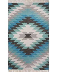 Discount Area Rugs 8 X 10 Deals On Juniper Home Indoor Outdoor Geometric Aqua Gray