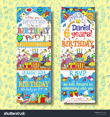 many stock birthday party invitation card vector creation vector birthday party invitation pass ticket stock vector