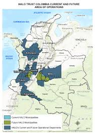 Columbia Map South America by Our Work In Colombia What We Do And Where The Halo Trust