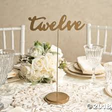 table numbers with pictures 1 12 gold calligraphy table numbers