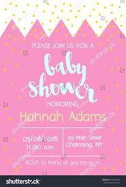 vector cute baby shower invitation lettering stock vector