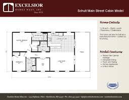schult manufactured homes floor plans 3 schult modular cabin excelsior homes west inc