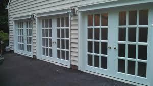Garage French Doors - three 8x7 jennifer garage doors installed in maryland gararge