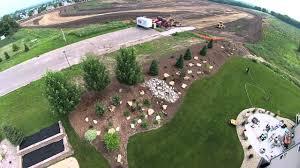 Landscape Mounds Front Yard - landscape finished berm youtube