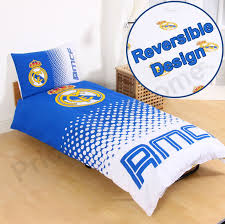 Electric Blue Duvet Cover Official Real Madrid Single U0026 Double Duvet Covers Football Bedding
