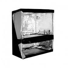 chambre de culture 1m2 chambre de culture dual grow tent silver 150 x 80 x 200 cm indoor