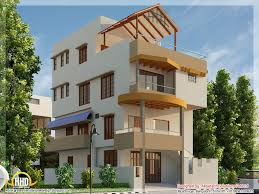 Modern Contemporary House Beautiful Modern Contemporary House D Renderings Kerala Home Small