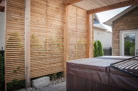 modern carpentry woodbridge pergola and privacy screen modern