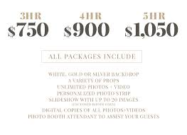photo booth prices pricing captured photobooths