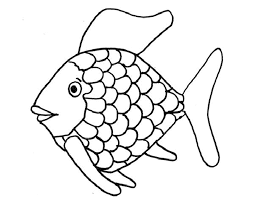 fish template coloring page free download