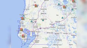 Florida Power And Light Outage Map by Power Outages In The Area Wtsp Com