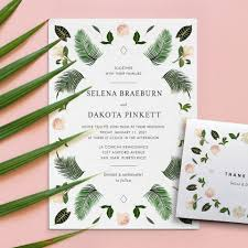 tropical themed wedding invitations 15 printable presses uniquely whimsical wedding invites