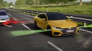 volkswagen arteon rear 2018 volkswagen arteon driver assistance systems youtube