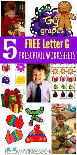 5 free preschool worksheets for preschool alphabet letter g