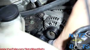 1998 2008 toyota corolla alternator remove and install youtube