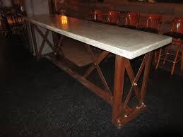 concrete top bar table creative build polished concrete slab top table