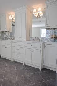 Glass Tile Bathroom Backsplash by Marble Counters Glass Tile Back Splash Lights On Mirrors Want