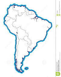 Blank Map Latin America by South American Map Blank Stock Photo Image 1100360