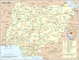 nigeria physical map nigeria