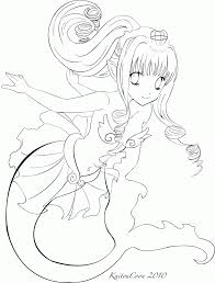anime blue mermaid coloring pages that are freean coloring home