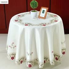 tablecloth for oval dining table round floral tablecloth pastoral style lace peony floral home decor