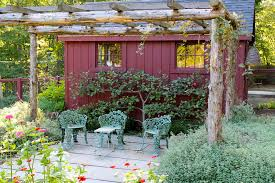 Rustic Outdoor Decor Rustic Garden Decor With Wood Ladder Patio Traditional And Square