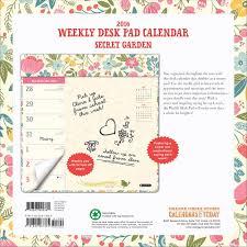 desk pad calendar 2017 secret garden 2016 desk pad 9781622267385 calendars com
