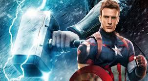 captain america lift thor u0027s hammer avengers infinity war