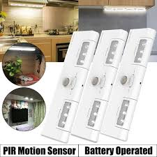 lights kitchen cabinets battery operated 3 pcs cabinet lights with 90 rotation 6 led motion sensor wireless light portable install l battery operated for