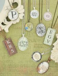monogrammed scrapbook monogrammed necklaces so easy to make with scrapbook paper and a