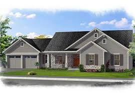 family friendly one level home plan 39223st architectural
